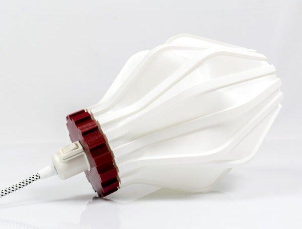 Lampada Uii stampata in 3d di Microstudio