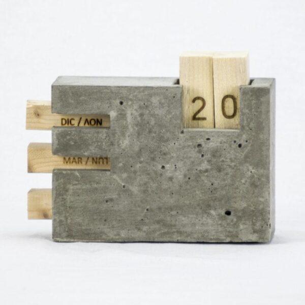 Calendario perpetuo cemento