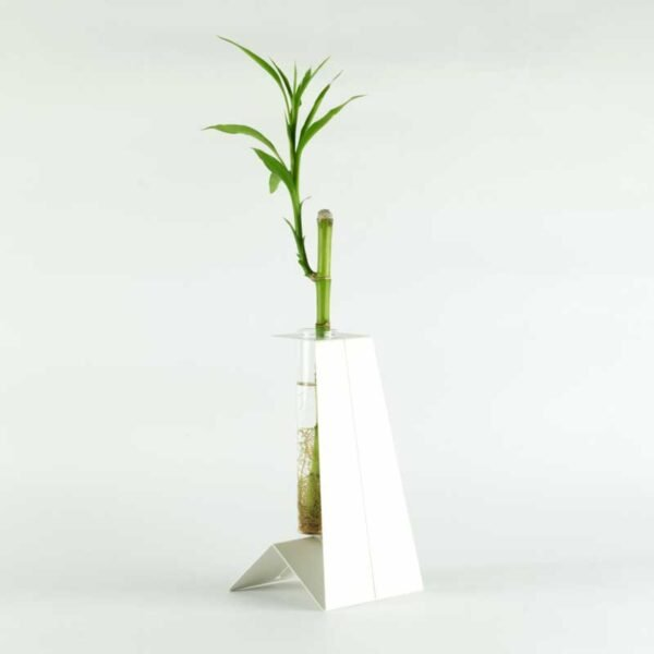 PinGu vaso monofiore bianco