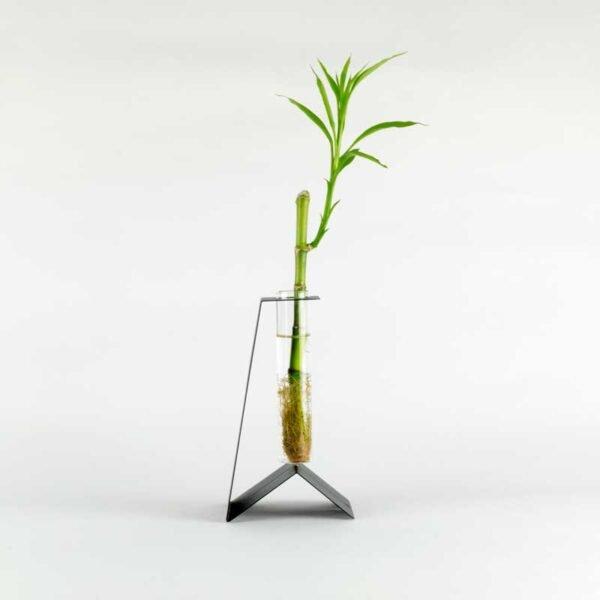 PinGu vaso monofiore nero